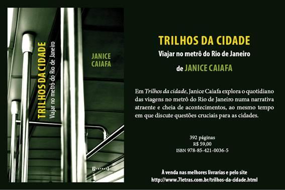Novo livro da professora Janice Caiafa
