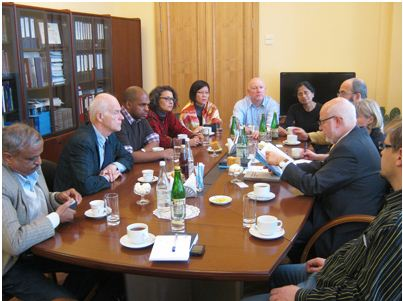 The project group in Moscow on 14 November 2012 meeting its member Professor Mikhail Fedotov, Chairman of Council of the President of the Russian Federation on Development of Civil Society and Human Rights.